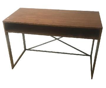 Wood & Metal Desk