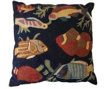 Kashmir Hand Made Chain-Stitch Pillow
