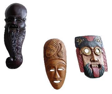 Mixed Wooden Masks