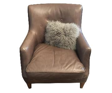 West Elm Leather Arm Chair