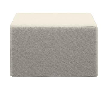 BoConcept Xtra Convertible Ottoman in White/Ivory