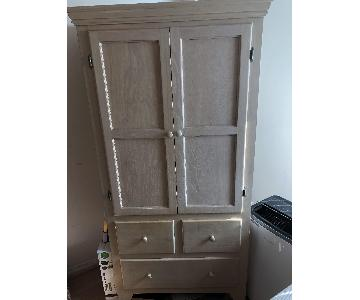 Gothic Cabinet Craft Washed oak Armoire