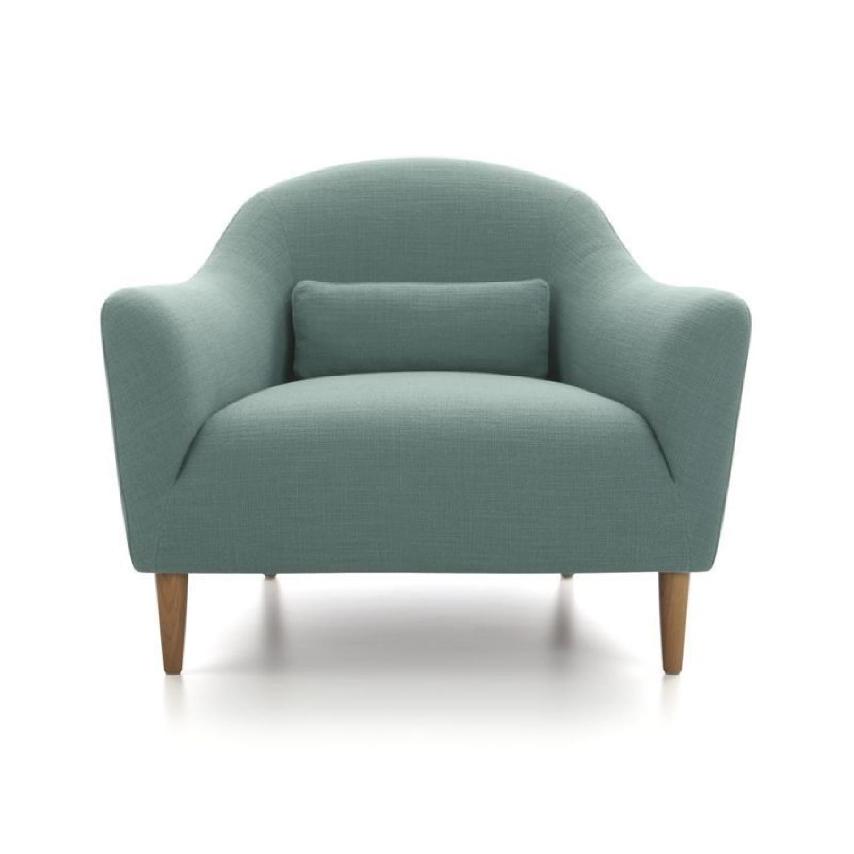 Crate U0026 Barrel Pennie Chair In Cornflower Blue ...
