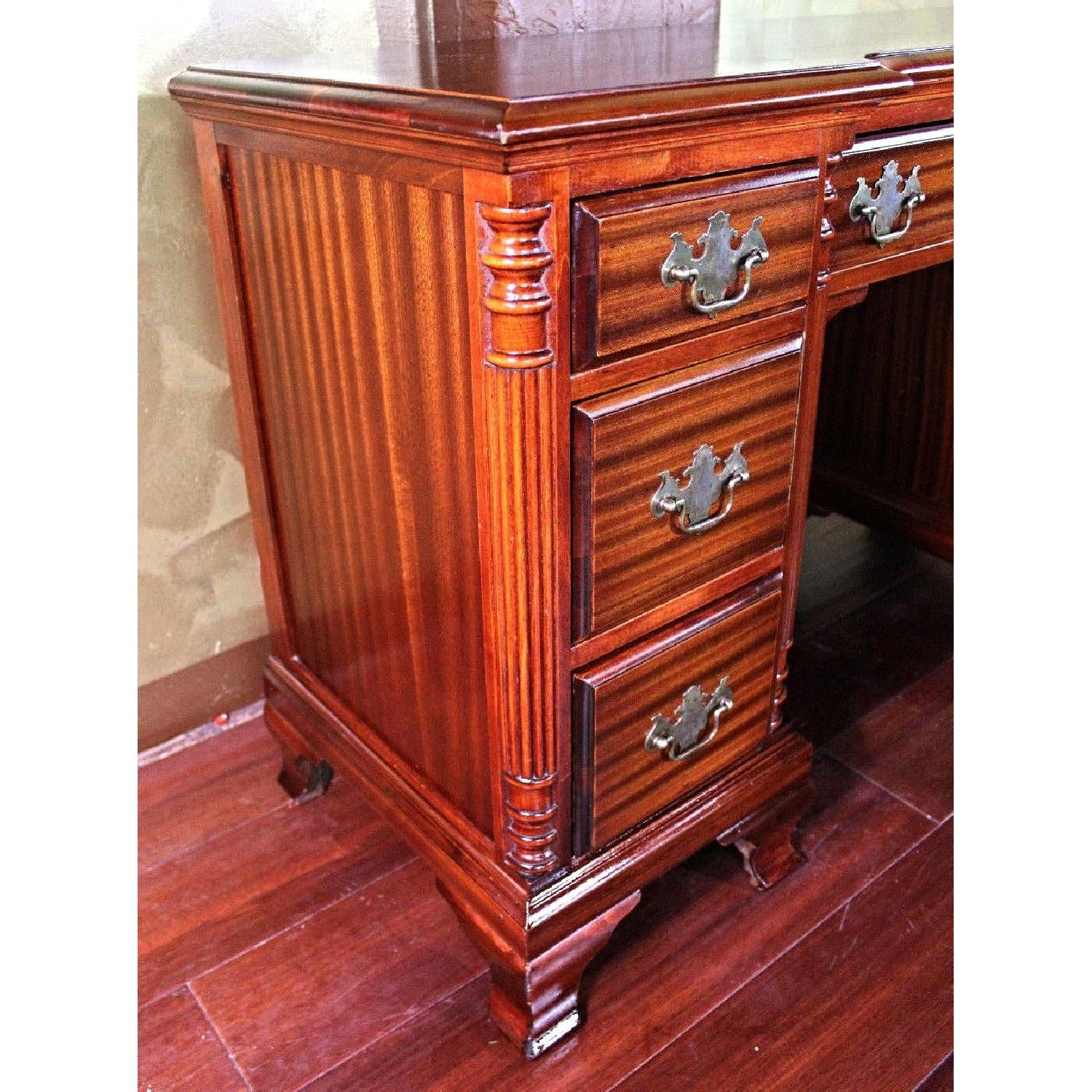 Chippendale Mahogany Vanity Writing Table/Desk