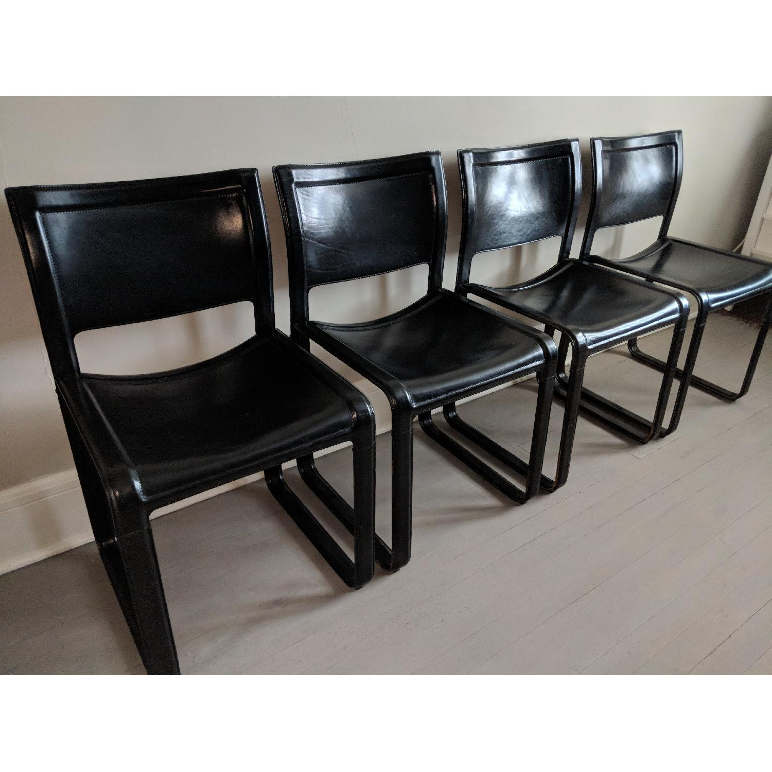 ... Vintage Matteo Grassi Sistina Leather Dining Chairs 1 ...