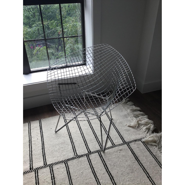 knoll vintage 1960s bertoia diamond chair w green aptdeco