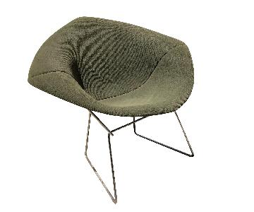Knoll Vintage 1960s Bertoia Diamond Chair w/ Green Cover