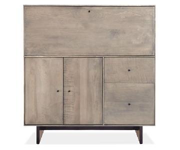 Room & Board Hudson Wooden Armoire w/ Dropdown Desk