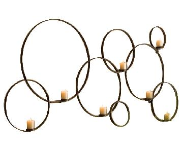 Pottery Barn Circles Wall Mount Iron Votive Holder