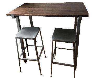 CB2 Stilt High Top Table w/ 2 Stools