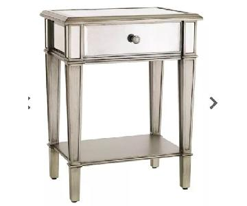 Pier 1 Hayworth Silver Glass Nightstands
