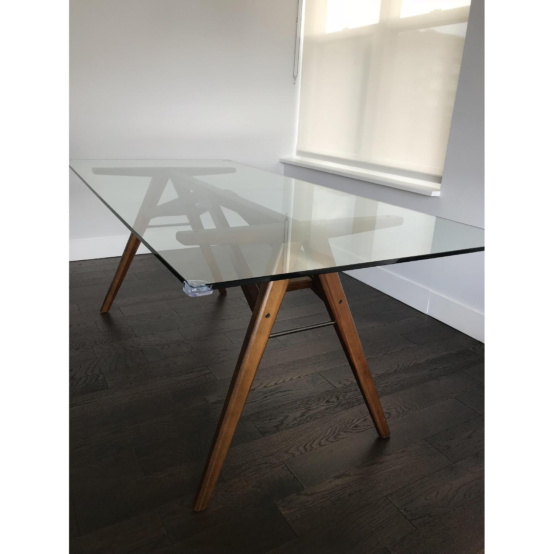 West Elm Jensen Glass Dining Table AptDeco - West elm jensen dining table