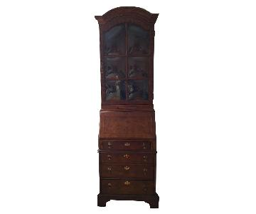 Drexel Secretary Desk w/ Display Cabinet
