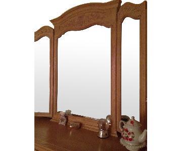Century Furniture Blonde Wood Mirror