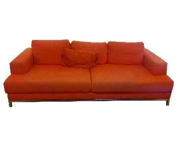 Design Within Reach Arena Sofa in Red/Orange