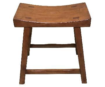 Pottery Barn Saddle Seat Stool