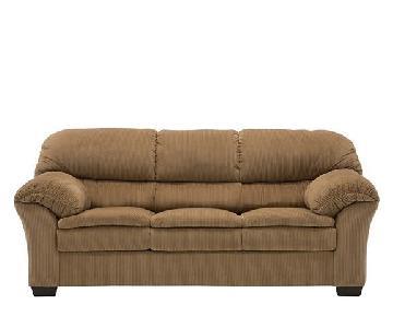 Raymour & Flanigan 3 Seater Sofa + Matching Storage Ottoman