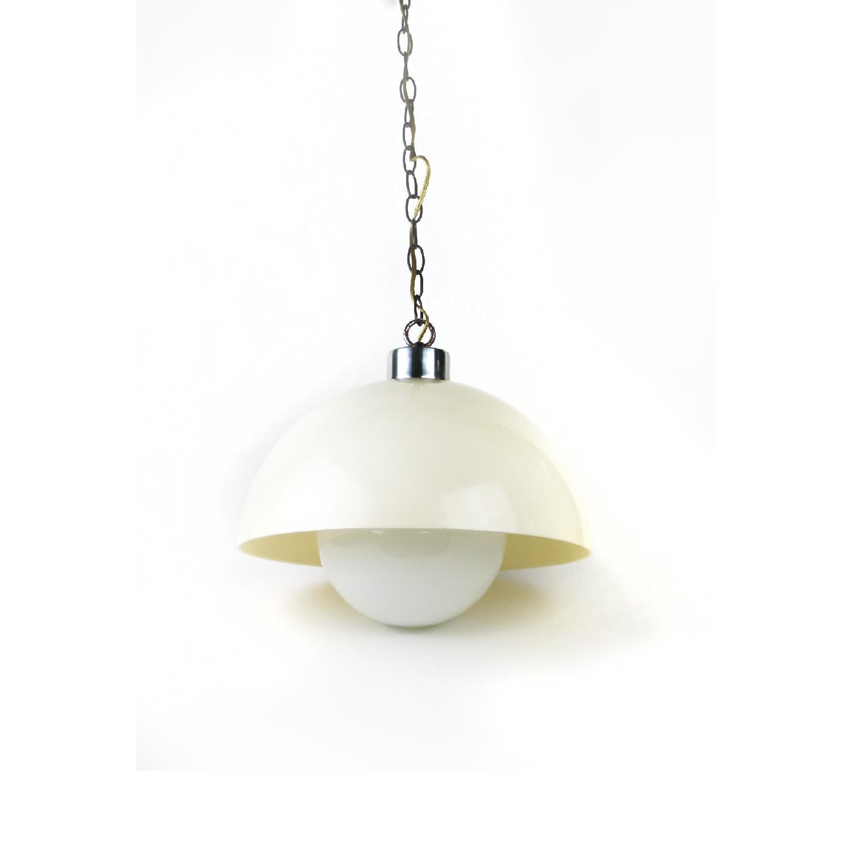 White Acrylic Flowerpot Style Lamp