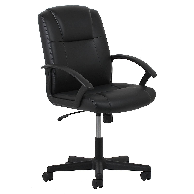 ergonomic leather executive office chair w arms aptdeco