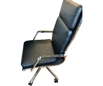 Jensen-Lewis Black Leather Office Chair