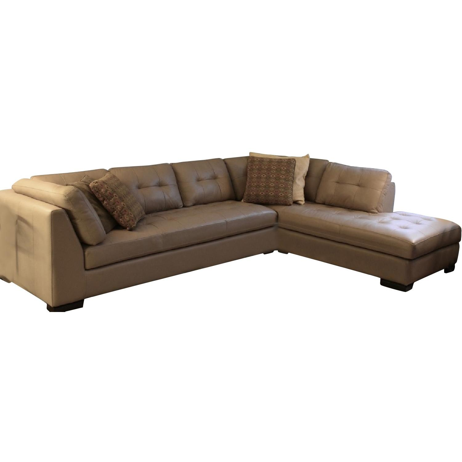 Omnia Newport Handmade Leather 2-Piece Sectional Sofa