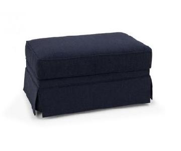 Bob's Mystic Storage Ottoman in Dark Blue