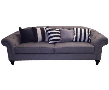 Raymour & Flanigan Chenille Sleeper Sofa