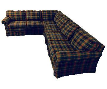 Perfekt Cheap Sherrill Furniture Dark Plaid Sectional Piece Sofa With Plaids Fur  Sofas.