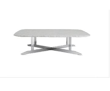 Design Within Reach Basso Marble Gray Coffee Table