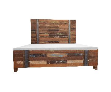 DesigneGallerie Valery Rustic Wooden Bed