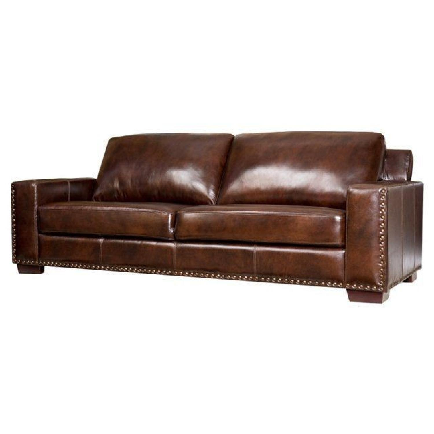 mitchell gold sofa. Abbyson Living Bravo Brown Leather Sofa Mitchell Gold