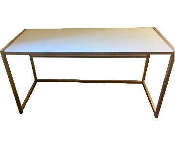 West Elm Glass Desk w/ Metal Frame