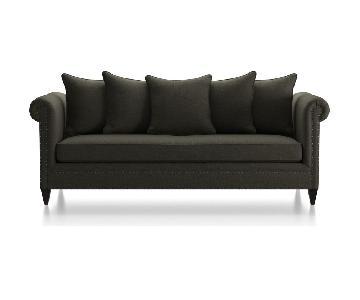 Crate & Barrel Durham Pillow Back Sofa