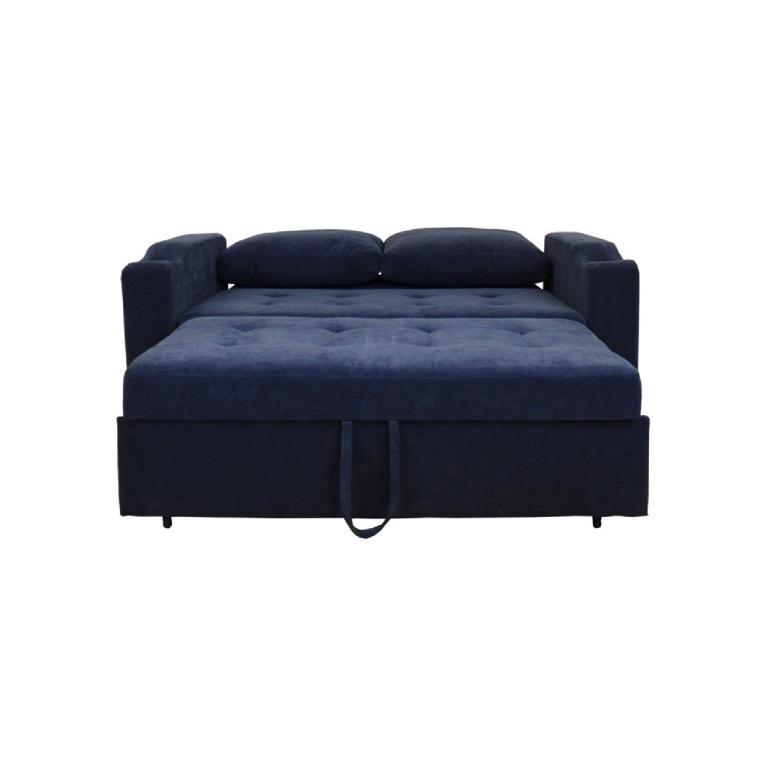 pull out sofa bed. Blue 2 In 1 Pull Out Sofa Bed-2 Bed R