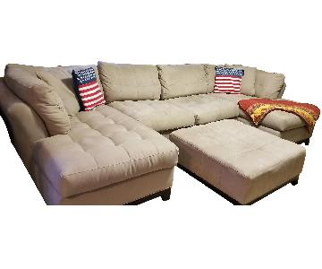 Raymour & Flanigan Cindy Crawford Metropolis Sectional Sofa