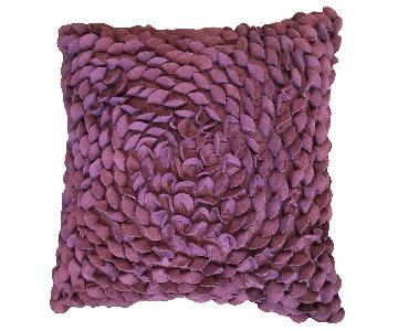 Crate & Barrel Plum Throw Pillows
