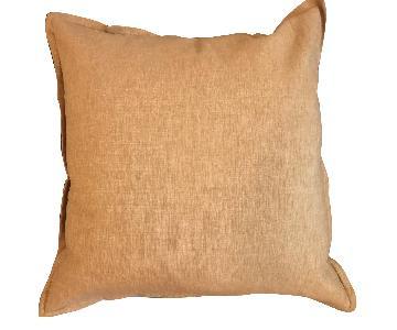 Crate & Barrel Linden Gold Pillows