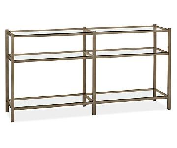 Room & Board Industrial Metal Bookcase w/ Glass Shelves