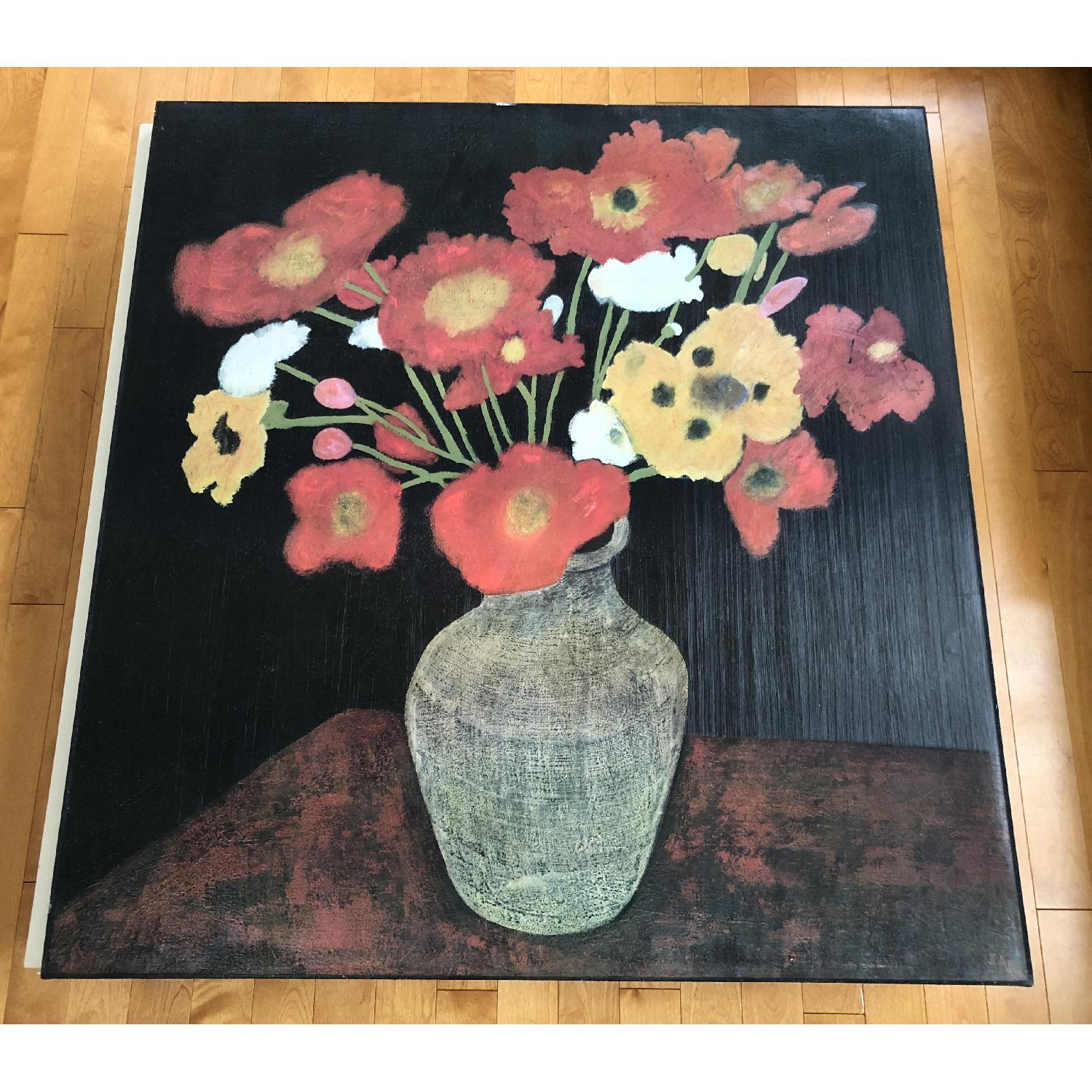 Expressionist Flower Pot on Table