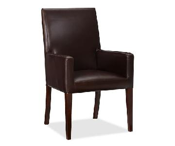 Pottery Barn Grayson Leather Dining Arm Chairs