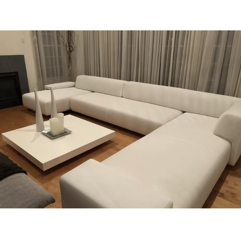 Moroso Italia Lowland Contemporary White Sectional Sofa