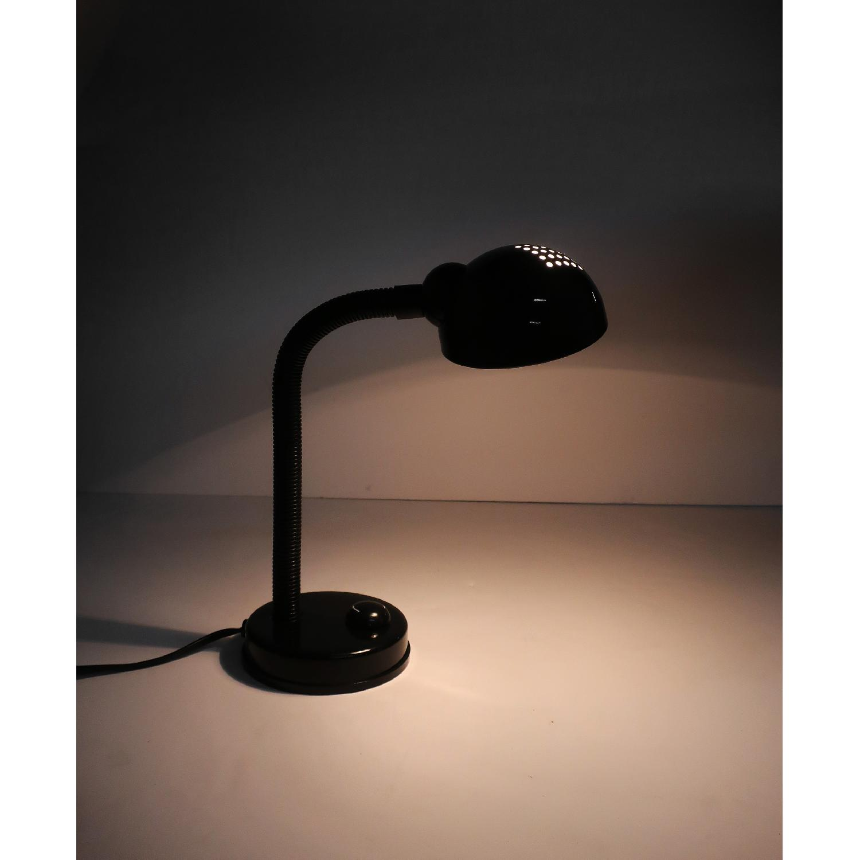 1990s Round Black Desk Lamp
