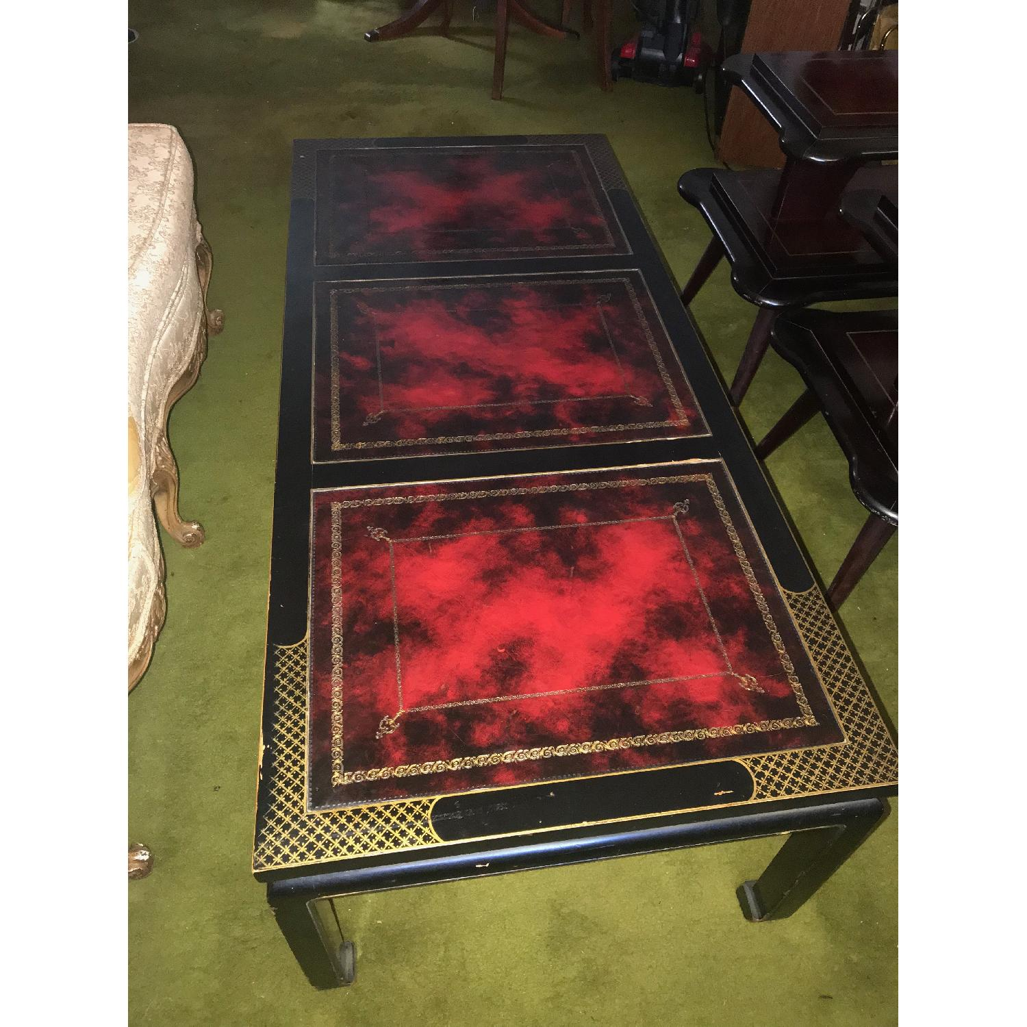 ... Vintage Wood Coffee Table + 2 End Tables 1 ...
