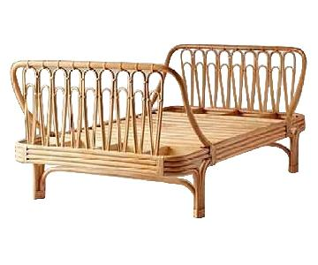 Urban Outfitters Canoga Rattan Twin Bed