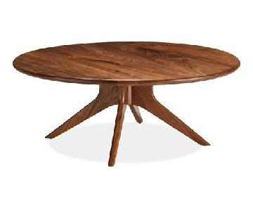 Room & Board Bradshaw Round Walnut Coffee Table