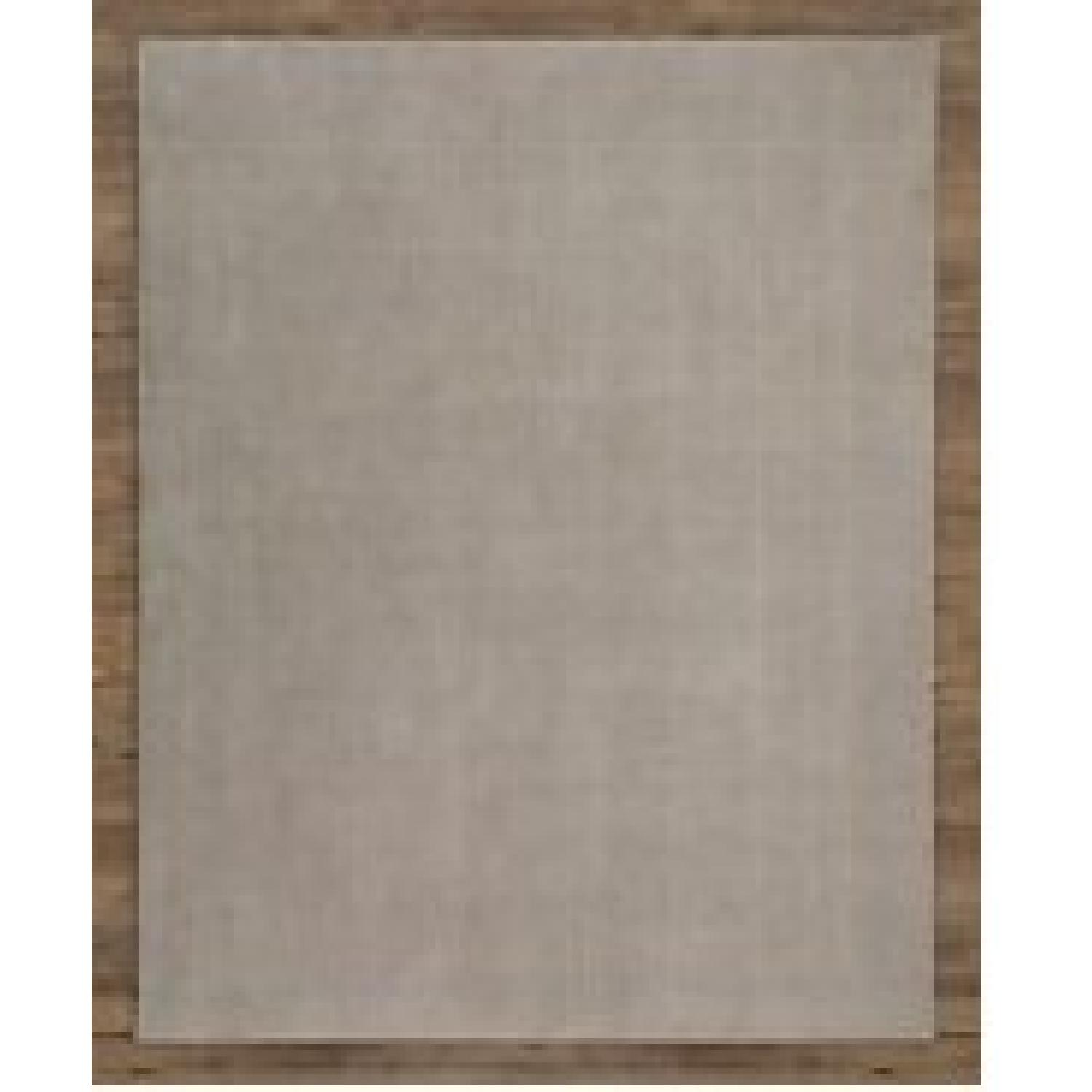 RH Baby & Child Distressed Wool Rug in Grey w/ Rug Pad