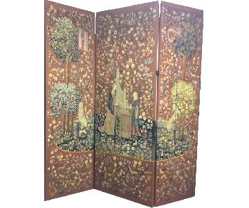 Antique Needlepoint & Pettipoint Screen/Room Divider