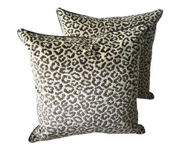 Lee Jofa Down Feather Cheetah Velvet Pillows