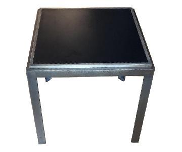 Crate & Barrel Black & Bronze Metal Side Tables