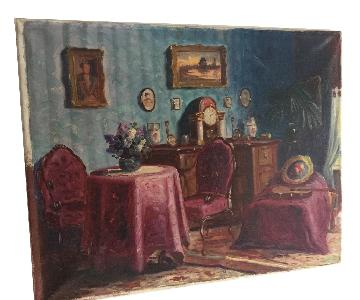 Original Painting of Bedroom Scene